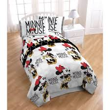Queen Minnie Mouse Comforter Disney Minnie Mouse Twin Bed In A Bag 5 Piece Bedding Set With