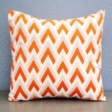Modern Throw Pillows For Sofa Shop Modern Orange Throw Pillow On Wanelo
