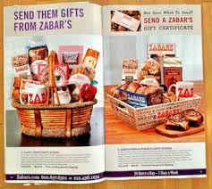 Zabar S Gift Basket In Our Mailbox Holiday Catalogs Galore