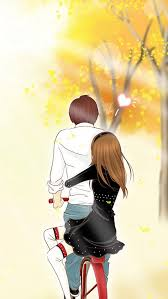 romantic couple anime iphone wallpapers free f 8696 wallpaper