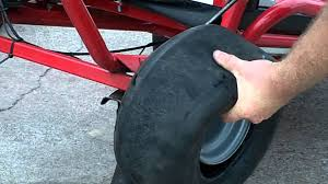 changing a tire on a 1 piece go kart rim youtube