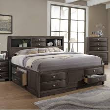 lifestyle todd queen storage bed w bookcase headboard royal
