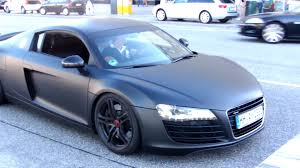 audi r8 wallpaper matte black matte black audi r8 with capristo exhaust accelerate youtube