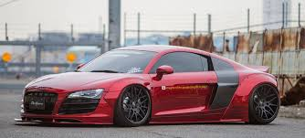 pink audi r8 dub magazine liberty walk audi r8 on forgiatos