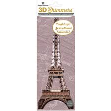 buy the paper house 3d shimmers light up sticker eiffel tower buy the paper house 3d shimmers light up sticker eiffel tower at michaels