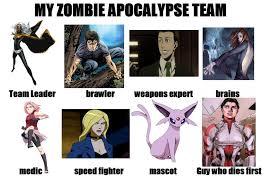 My Zombie Apocalypse Team Meme Creator - image 630844 my zombie apocalypse team know your meme