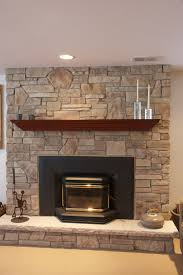 image of stone fireplace design stacked designs ideas