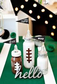 Diy Football Decorations A Football Baby Shower Sip And See With Nfl Homegating
