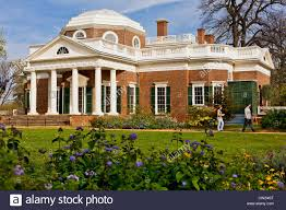 Monticello Jefferson S Home by Monticello Inspired By Palladio Architect Thomas Jefferson Stock