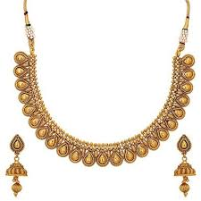 beautiful necklace online images Buy aarvi 24k gold plated beautiful pure antique traditional jpg