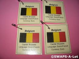French And Dutch Flag Mini Belgium Flag Capital Thinking Day Scout Swaps Kids