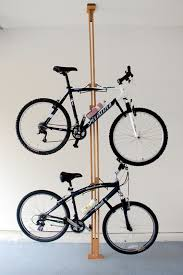 Bicycle Ceiling Hoist by Stylish Wooden Apartment Bike Rack Storeyourboard Com