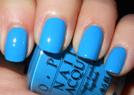 opi light blue nail polish imperfectly painted opi ogre the top blue