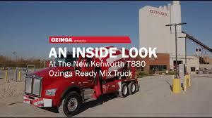 trade trucks kenworth an inside look at the new kenworth t880 ozinga ready mix truck