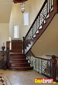 plants decor and interesting modern staircase railing model