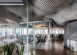 billowing sky ceiling shows off versatile structural plastic material