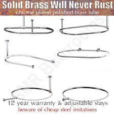 Polished Chrome Shower Curtain Rod Traditional Round U0026 Oval Shower Curtain Rails With Optional