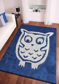 Area Rug For Kids Room by 4 U0027 X 6 U0027 Ft Blue Kids Bedroom Area Rug With Owl Design Designs