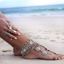 fashion ankle bracelet images Womens barefoot foot jewelry ankle bracelet antique silver plated jpg