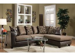 Pillow Back Sofas by Del Sol Exclusive 4124 Contemporary Sectional Sofa With Chaise End