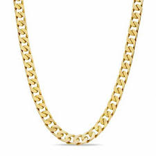 gold link necklace images Men 39 s solid square link chain necklace in 10k gold 22 quot mens jpg