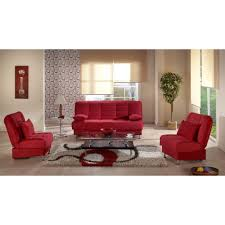 F Living Room Furniture Red Color Sofa Sets Vegas Convertible Living Room Red Color Sofa