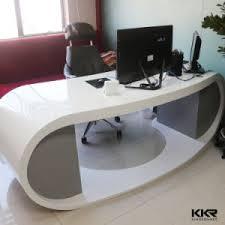 Reception Desk Small China Kkr Small White Solid Surface Salon Modern Reception Desk