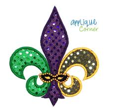 fleur de lis mardi gras 377 fleur delis three color for mardi gras applique design in