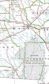 Okefenokee Swamp Map County Of Ware Georgiainfo