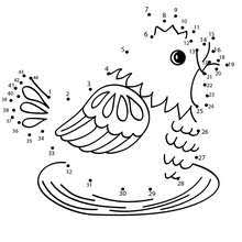 parrot dot dot game coloring pages hellokids