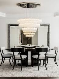 crystal shell custom blown glass dining room chandelier modern