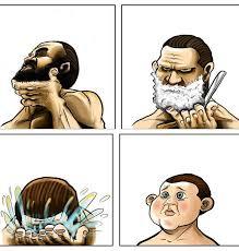 No Beard Meme - beard shaving comic parodies know your meme