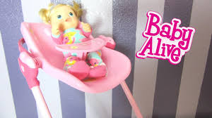 Baby Doll High Chair Set Baby Alive 3 In 1 Doll Play Set With Tickles N Cuddles Feeding