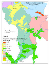 Florida Wetlands Map by Hydrological Data Recorded In Or Near The Suwannee River Watershed
