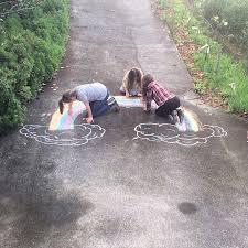 chalk scene drawings fun mum