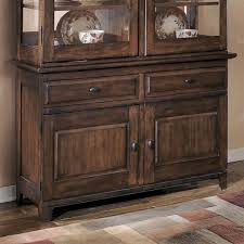 Black Hutch Buffet With Wood Top Paradisehomefurniture