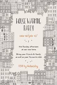 Free Housewarming Invitation Card Template House Warming Party Invitation Hand Drawn Card Template Framed