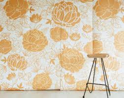 bouquet of peonies mural dark floral wallpaper
