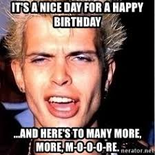 Billy Meme - billy idol birthday meme generator
