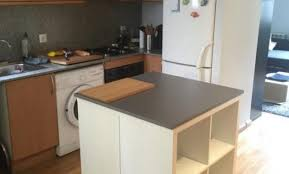 meuble cuisine ilot meuble cuisine ilot cuisine rustique chic en mlamine egger avec