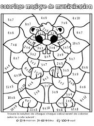 coloriage magique de multiplication multiplication math and