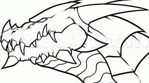dragon head drawing draw dragon head side