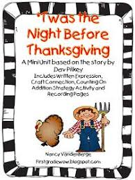 twas the before thanksgiving literacy activities 1st grade