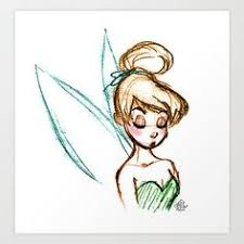 draw disney cartoons draw tinkerbell easy step 8