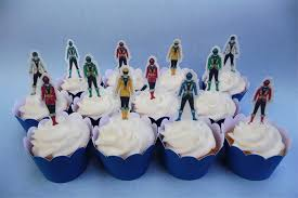 power rangers cake toppers 12x power rangers edible cupcake cake toppers stand up birthday