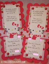 sleepover party invites hello kitty birthday party slumber party part 2