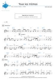 Les Memes - other sheet music tous les mêmes stromae easy sheet music