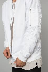 ghost clothing ghost white bomber jacket streetwear elwood clothing