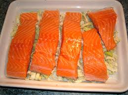 cuisiner du saumon au four saumon rôti au four et sa chiffonnade de poireaux de cuisine