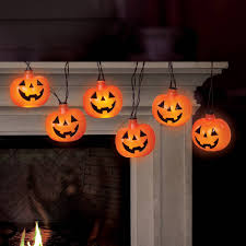 battery operated pumpkin led halloween lights with spooky sound
